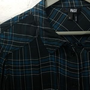 Paige Viscose 'Flannel' Shirt Large